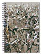 Bicycle Park In Beijing In China Spiral Notebook