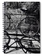 Bicycle Shadow 1 Spiral Notebook
