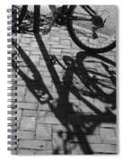 Bicycle Shadows In Black And White Spiral Notebook