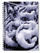 Bicycles Covered With Snow Spiral Notebook