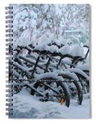 Bicycles In The Snow Spiral Notebook