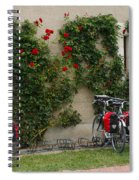 Bicycles Parked By The Wall Spiral Notebook