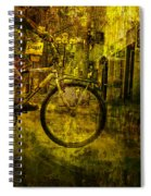 Bicyclist On The Move No. Ol4 Spiral Notebook