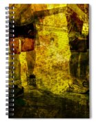Bicyclists On The Move No. Ol6 Spiral Notebook