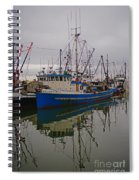 Big Blue Fishing Boat Spiral Notebook