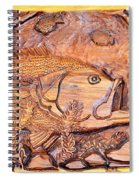 Big Mouth Bass Carving Spiral Notebook
