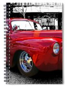 Big Red Abstract Spiral Notebook