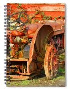 Big Red Tractor Spiral Notebook