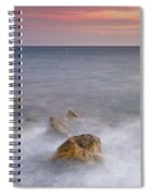 Big Rock Against The Waves Spiral Notebook