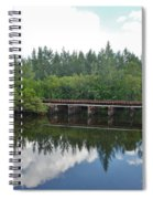 Big Sky And Docks On The River Spiral Notebook