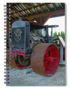 Big Steel Wheel Tractor Spiral Notebook