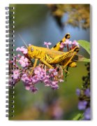 Big Yellow Grasshopper Spiral Notebook