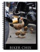 Biker Chix Spiral Notebook