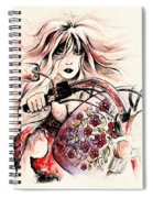 Biker Girl Spiral Notebook