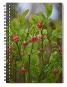 Bilberry Flowers Spiral Notebook