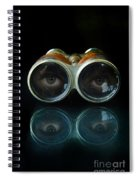 Binoculars With Eyes Looking At You Spiral Notebook
