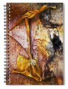 Birch Tree Bark No.0885 Spiral Notebook