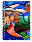 Bird Lady Spiral Notebook