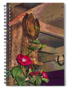 Birdhouse Morning Glories Two Spiral Notebook