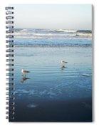 Birds At Dusk Vanilla Pop Spiral Notebook
