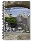 Bird's Eye View Of Dubrovnik Spiral Notebook