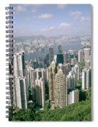 Birds Eye View Over Hong Kong Spiral Notebook