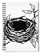 Birds Nest Spiral Notebook