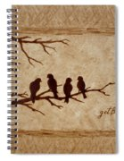 Birds Vintage Photo Beer Painting Spiral Notebook