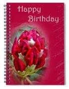 Birthday Card - Red Azalea Buds Spiral Notebook