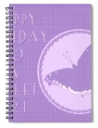 Birthday Girl Greeting Card - Mourning Cloak Butterfly Spiral Notebook