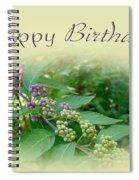 Birthday Greeting Card - American Beautyberry Shrub Spiral Notebook