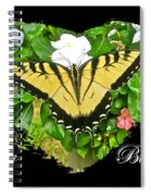 Birthday Greeting Card - Tiger Swallowtail Butterfly Spiral Notebook