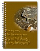 Birthday Party Invitation - Common Toad - Child Spiral Notebook