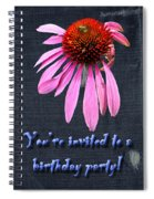 Birthday Party Invitation - Coneflower Spiral Notebook