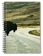 Bison Crossing Highway Spiral Notebook