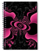 Black And Pink Fractal Butterfly Spiral Notebook
