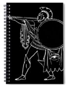 Black And White Ancient Greek Warrior Spiral Notebook