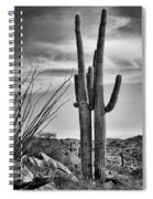 Black And White Couple Spiral Notebook