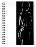 Black And White Erotic Spiral Notebook