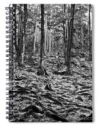 Black And White Forest Spiral Notebook