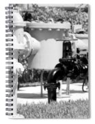 Black And White Mechanics Spiral Notebook