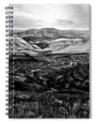 Black And White Painted Hills Spiral Notebook