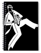 Black And White Saxophone Spiral Notebook