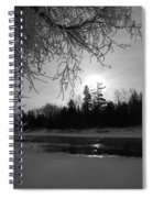 Black And White Sunrise Spiral Notebook