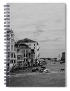 Black And White Venice 3 Spiral Notebook