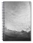 Black And White Wave Breaking On Makena Shore Spiral Notebook