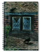 Black Birds Sitting On Roof By Window Spiral Notebook