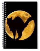 Black Cat Moon Spiral Notebook
