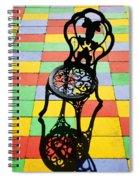 Black Iron Chair Spiral Notebook