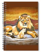 Black Maned Lion And Cub Spiral Notebook
